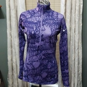 Nike Profit 3/4 zip purple design pullover
